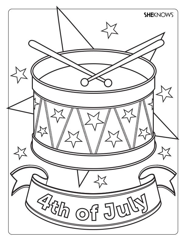 19 best 4th of July Coloring Pages images on Pinterest