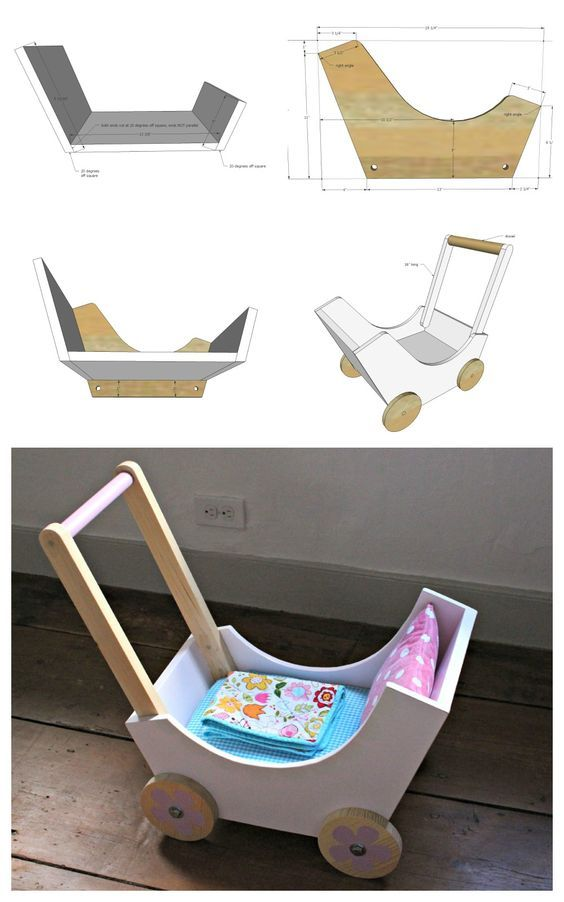 Ana White   Build a Wood Doll Pram or Stroller   Free and Easy DIY Project and…