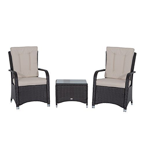 Outsunny Rattan Garden Furniture 3 PCs Sofa Chair Table Bistro Set Wicker  Weave Outdoor Patio Conservatory618 best Rattan Seater  chairs images on Pinterest   Rattan  . Rattan Garden Furniture Uk. Home Design Ideas