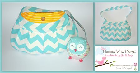 Light Blue Chevron Shoulder bag