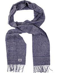 BOSS Black Jonero Wool/Cashmere Scarf Navy