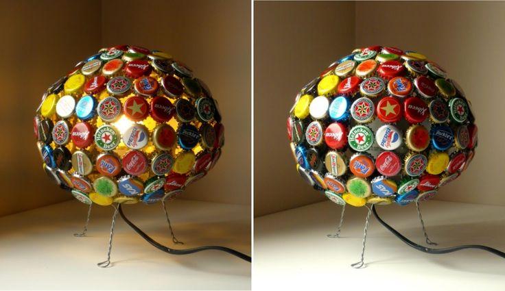 20 lamparas recicladas iturriadesign grate ideas pinterest - Ideas para hacer lamparas ...