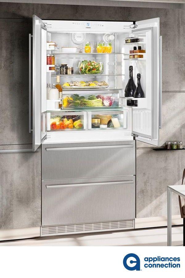 36 Inch Built In Counter Depth 4 Door French Door Refrigerator With 19 5 Cu Ft Total Capacity 3 Home Appliances French Door Refrigerator Kitchen Appliances