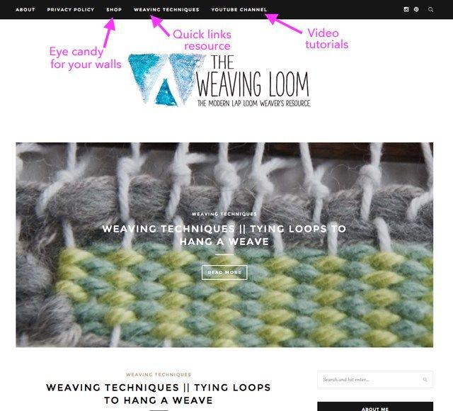 The Weaving Loom blog for weavers