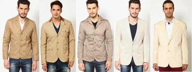 A color that speaks a thousand words: Buy beige blazers for men online!