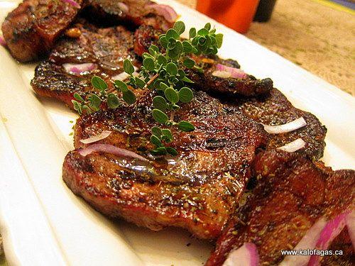 Greek pork steaks yummo