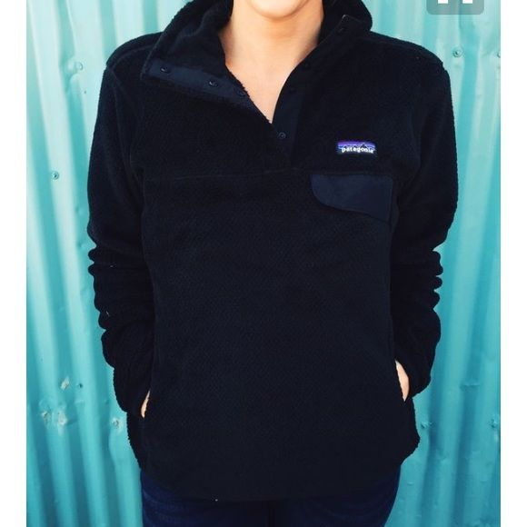 Black Patagonia Fleece Pullover Super cozy, in like new condition. Womens size xs, can fit small. Patagonia Jackets & Coats