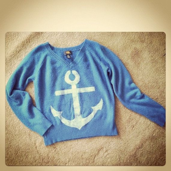 Oversized slouchy Anchor Sweater $15.00: Anchors Shoulder Tattoo, Anchors Sweaters, Slouchy Anchors, Fashion Queens, Sailors Anchors, Anchors Naut, Dreams Wardrobes, Dreams Closets, Black Markers