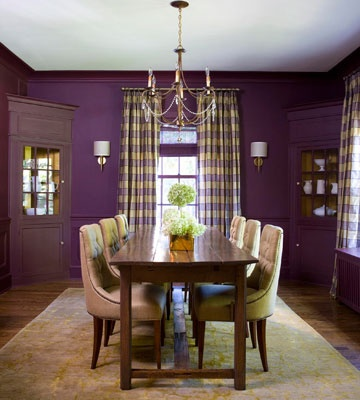 Cozy Color Schemes For Every Room Purple Dining