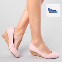 Chaussures compensées avec semelle en liège