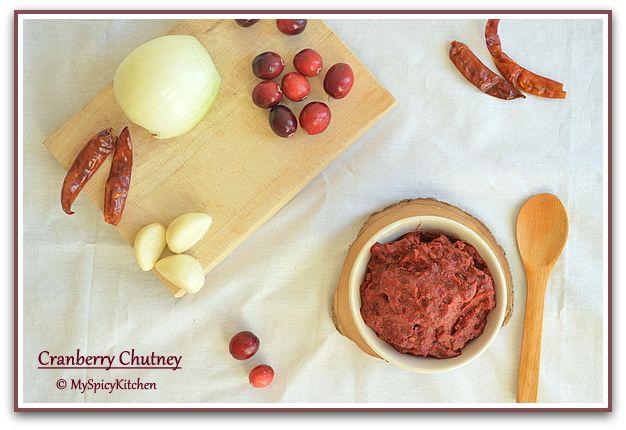 Cranberry Chutney ~ Cranberry Pachadi