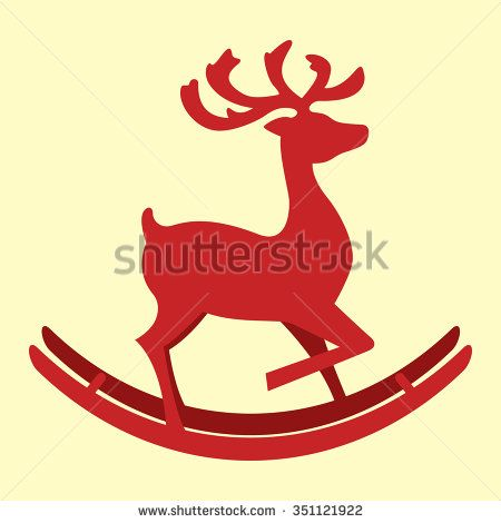 illustration of deer - stock vector
