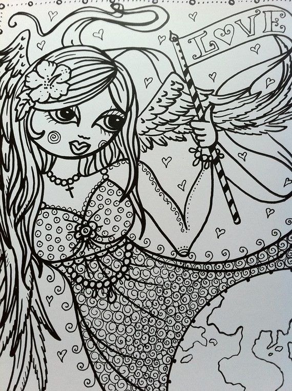 286 best Faries / Angels coloring images on Pinterest | Coloring ...