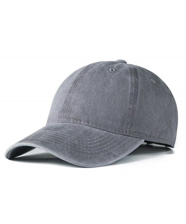 Plain Classic Washed Cotton Twill Low Profile Adjustable Baseball Cap