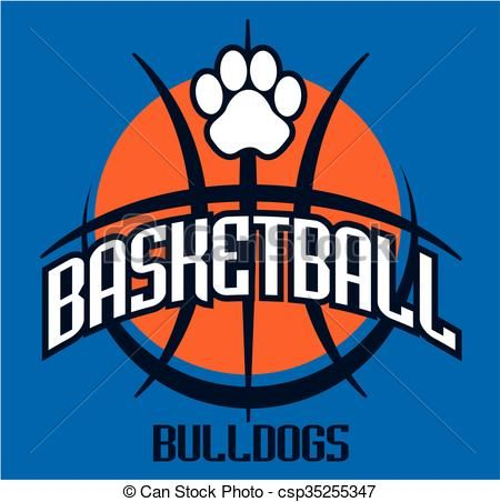 Vector - bulldogs basketball - stock illustration, royalty free illustrations, stock clip art icon, stock clipart icons, logo, line art, EPS picture, pictures, graphic, graphics, drawing, drawings, vector image, artwork, EPS vector art
