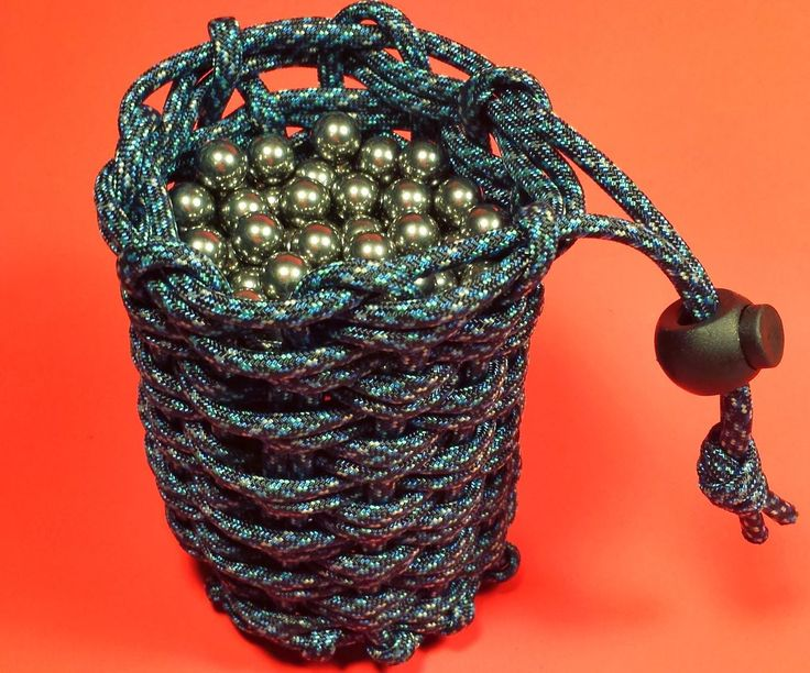 I wanted a pouch to hold some slingshot ammo. There are a few other Instructables about making paracord pouches but this method seems a little different. Credit to Stormdrane for the original instructions.Tools and Materials30 feet of paracordparacord needlecord locksoda canrubber band or tapesharpielighter