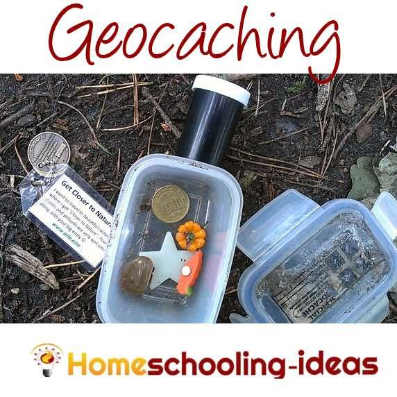 Geocaching for homeschool geography fun www.homeschooling-ideas.com