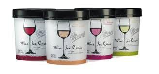 Mercer's Wine Ice Cream Packaging