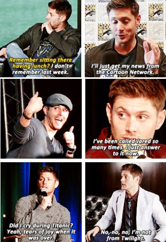 Jensen is so precious #jensen #ackles