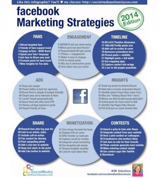 Facebook Marketing Strategies 2014 (Marketingové strategie Facebooku v roce 2014 - infografika)