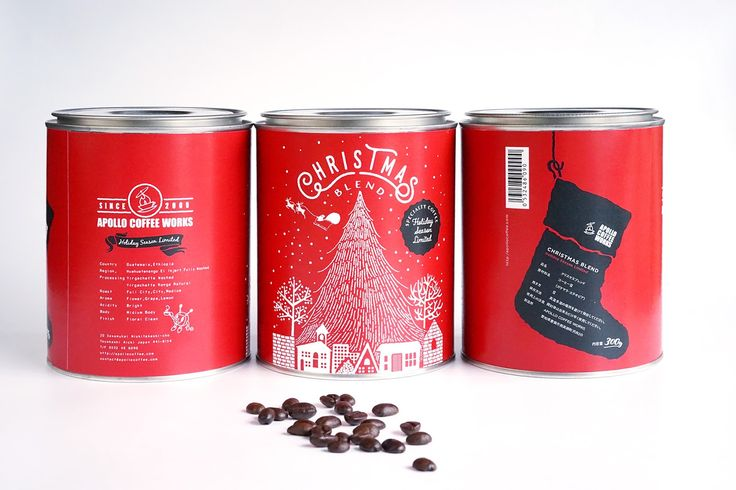 Apollo Coffee Works Limited Edition Christmas Can on Packaging of the World - Creative Package Design Gallery