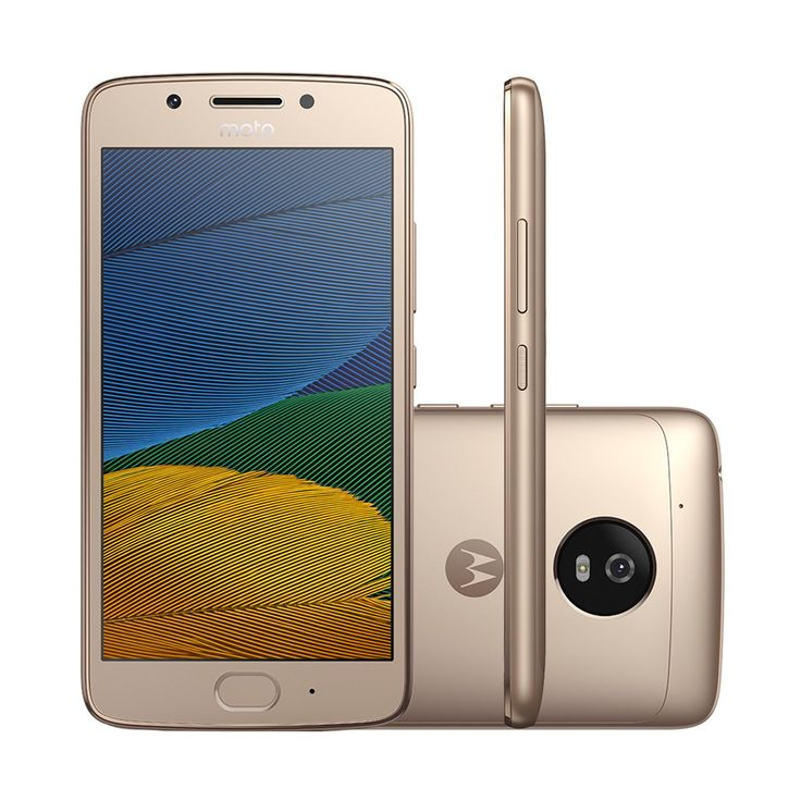"""Smartphone Moto G5 XT1672 Ouro Dual Chip Android 7.0 Tela 5"""" 32GB 4G Camera 13MP"""