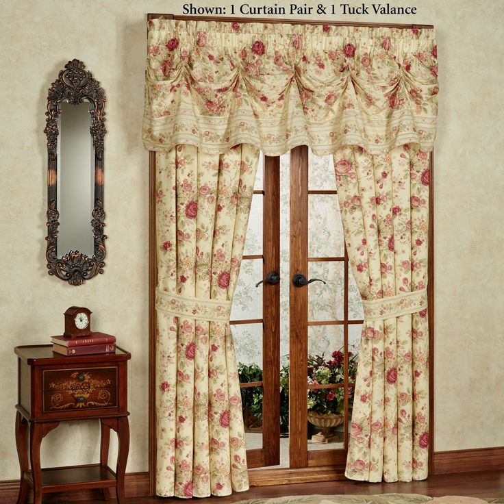 The gorgeous Vintage Rose Floral Ruffled Daybed Bedding Set includes a  daybed cover and three shams  Cotton daybed cover features a  vermicelli quilted. Top 25 ideas about   Living Room Curtains  Drapes   Window