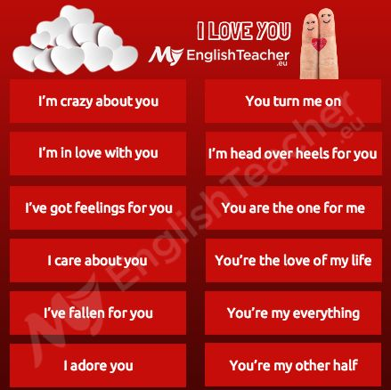 What are the other ways to say i love you? - Online English Teacher - MyEnglishTeacher.eu