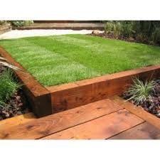railway sleeper raised garden beds - Google Search