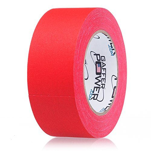 REAL Professional Premium Grade Gaffer Tape by Gaffer Power® - Made in the USA - RED - 2 In X 30 Yds - Heavy Duty Gaffer's Tape - Non-Reflective - Waterproof - Multipurpose - Better than Duct Tape! - PROFESSIONAL QUALITY GAFFER TAPE – MADE IN THE USA  We Provide the Tools, you Create the Magic! GAFFER POWER Gaffer Tape:  Is tough and durable Secures cables and wires to almost any surface Removes easily Leaves no residue Tears easily into strips Matte finish – wil