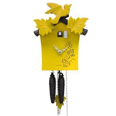 Echt mal ein anderes Design einer Schwarzwälder Kuckucksuhr. Krasse Farbe. Wer kennt noch ausgefallene Kuckucksuhren von Euch? Gibt´s ein Forum oder Blog von Kuckucksuhrliebhabern, welches zu empfehlen wäre?