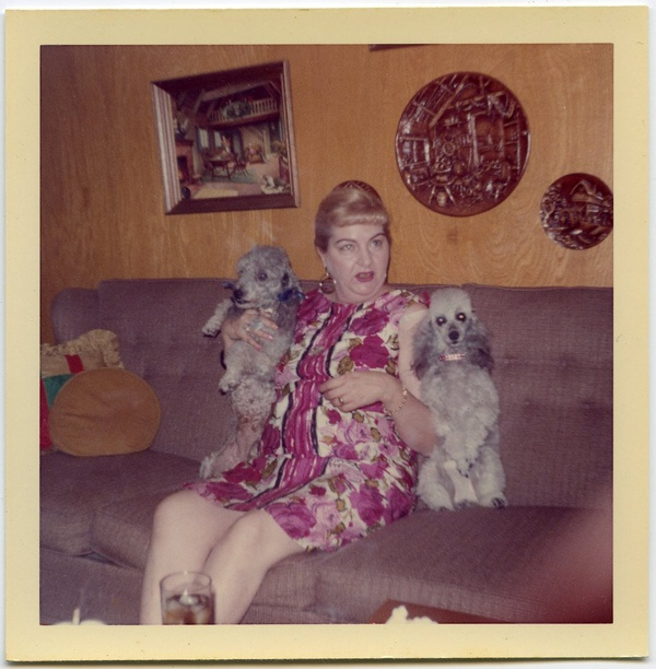 lady and poodles snapshot