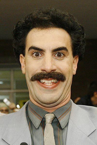 Borat, alias Sacha Baron Cohen