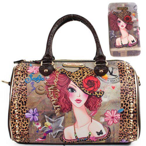 Nicole Lee Usa Sunny Muneca Graphic Print Boston Handbag
