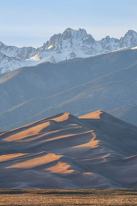 Star Dune and Crestone Peak in the Great Sand Dunes National Park : Mountain photography by Aaron Spong