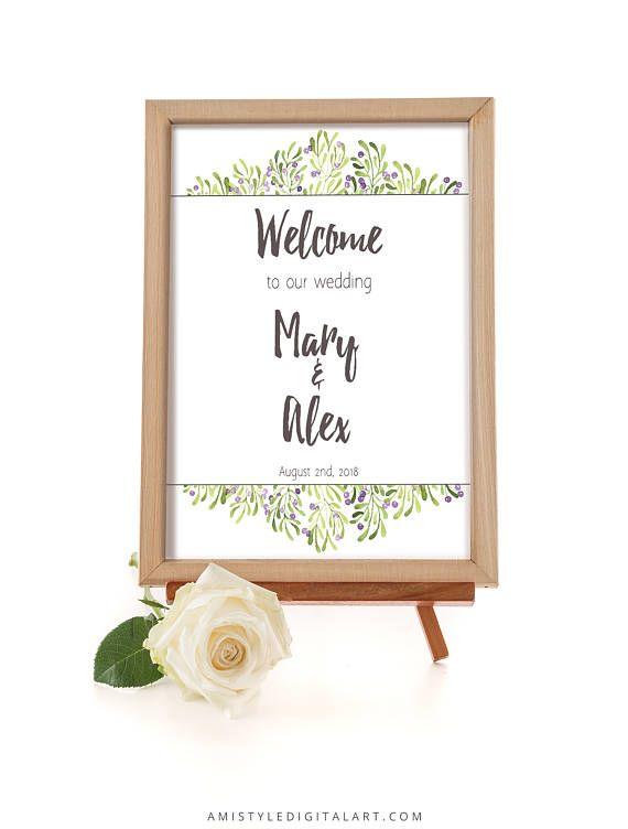 Wedding Welome SignOliveWedding SignageWelcome SignWelcome