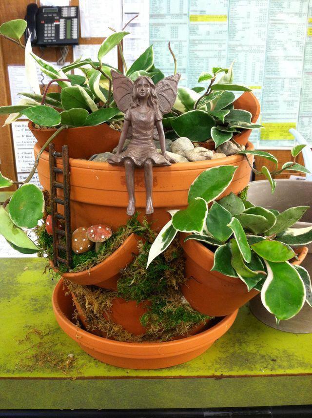 broken pot fairy garden design by kristin middleton