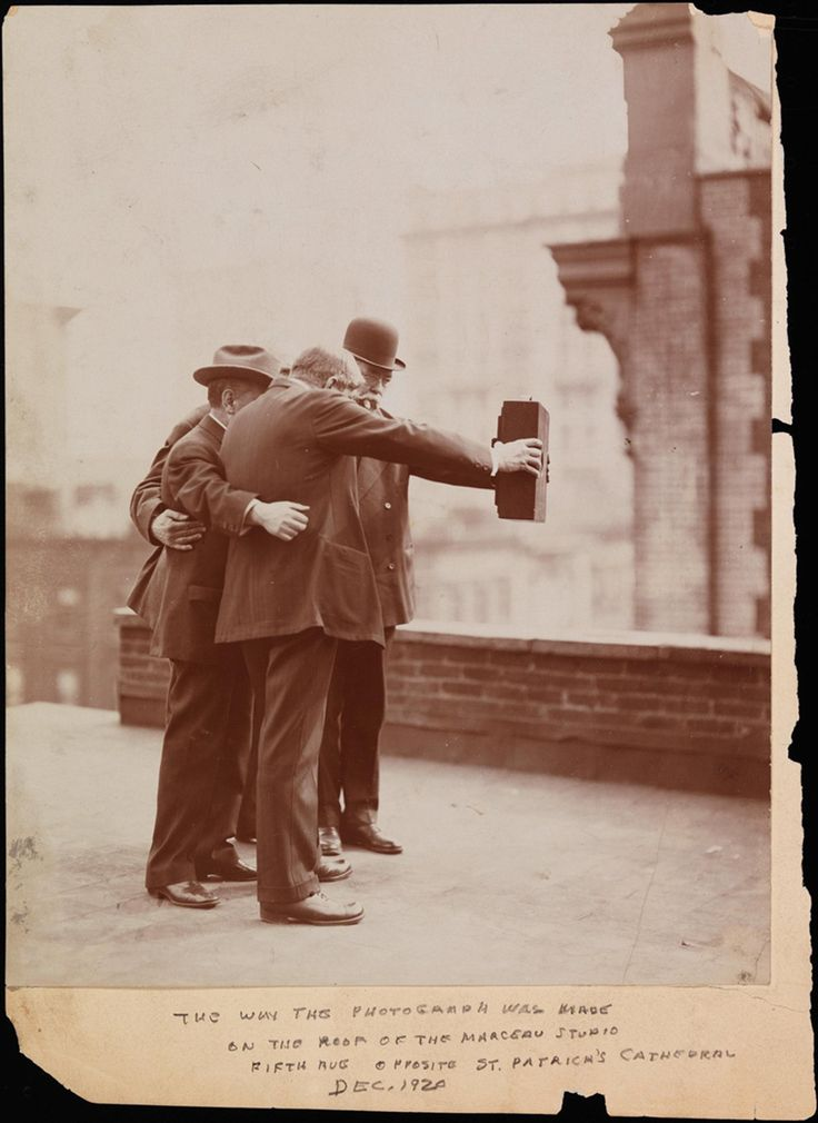 Selfies have been around for a while. Photograph from the Museum of the City of New York, 1920.