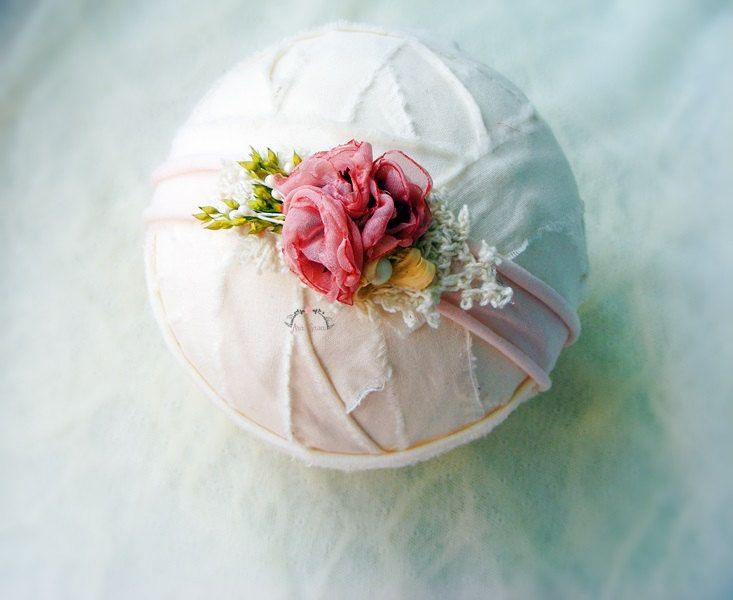Newborn photography tieback prop, Newborn flower headband, Newborn photo prop tieback, Flower headband prop by AraSASA on Etsy