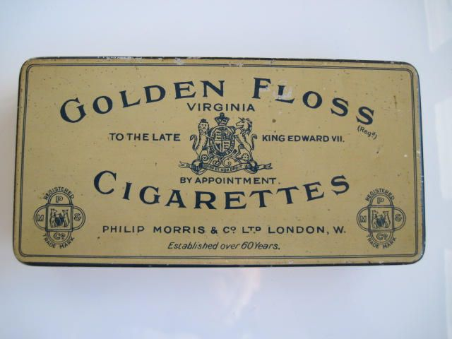 Excited to share the latest addition to my #etsy shop: Golden Floss Cigarette Tin (50/empty) by Philip Morris & Co Ltd c.1930 http://etsy.me/2HSUISg #vintage #collectables #cigarettetin #tobaccocollectibles
