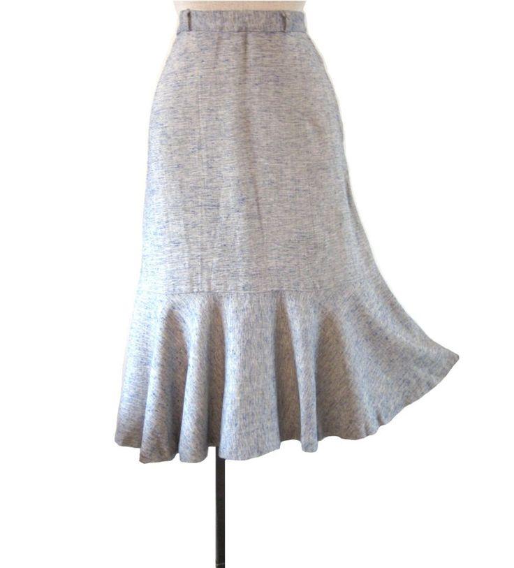 1940s skirts   Vintage 1940s Skirt : Flirtation Walk Swing Skirt