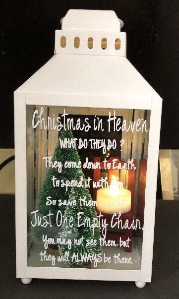 Christmas In Heaven Lantern With Tealight Red Chair