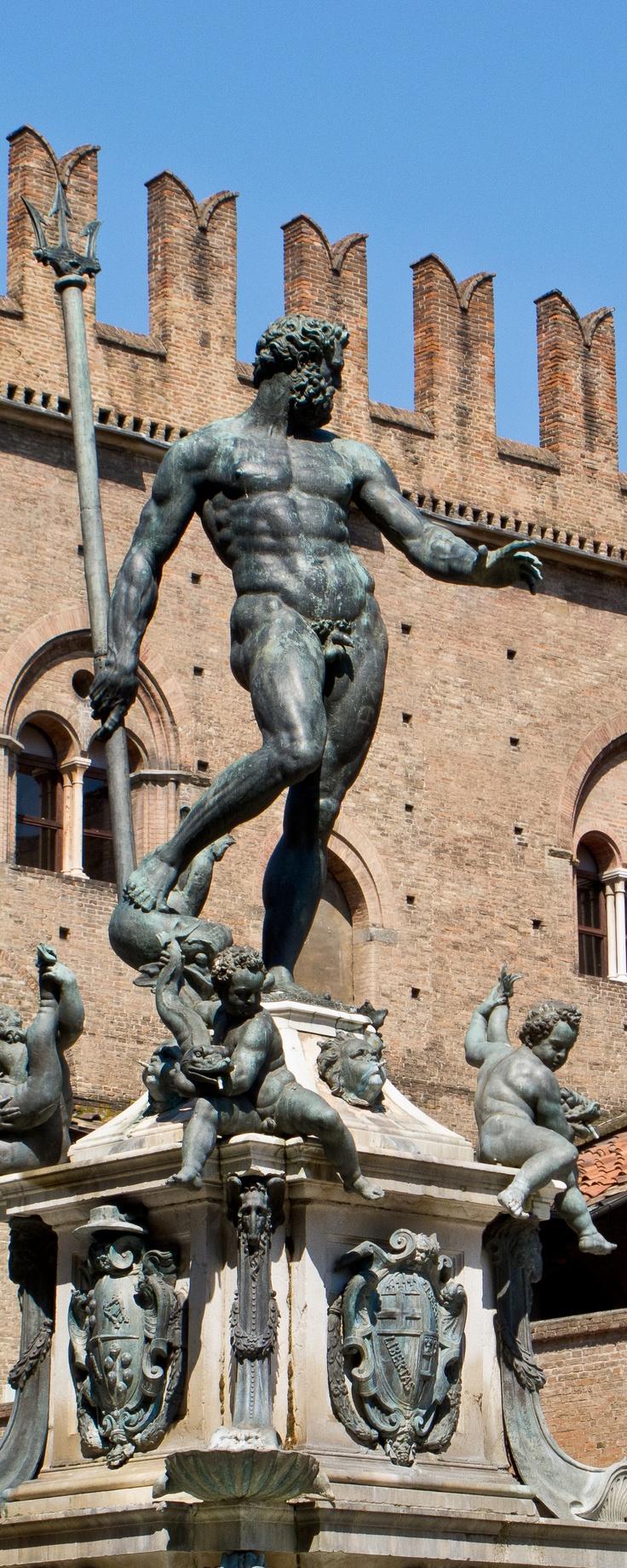 #Bologna - Adelini Riccardo - Fontana del Nettuno - Piazza Maggiore. Bologna - Neptune Fountain - Piazza Maggiore. #Italy