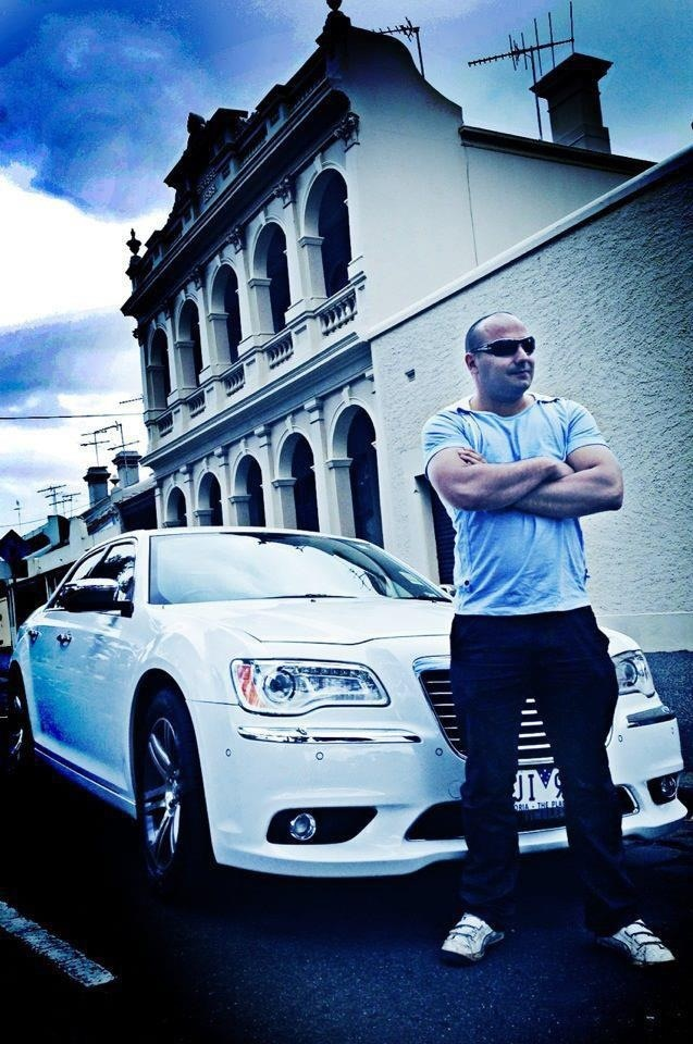 Commercial Photography Melbourne - White Chrysler 300 Con Tsioukis of Alex Pavlou Photography