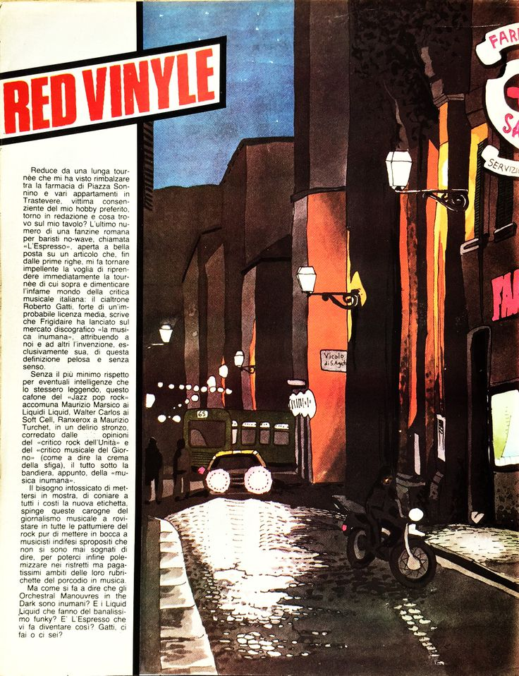 Red Vinyle aka Stefano Tamburini #8, Frigidaire n°15-16 - Feb-March 1982 _ Maurizio Marsico, Soft Cell