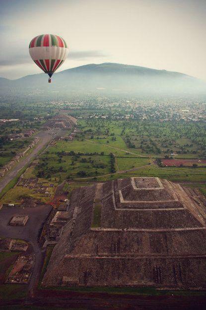 Vuelo en Globo sobre Teotihuacan