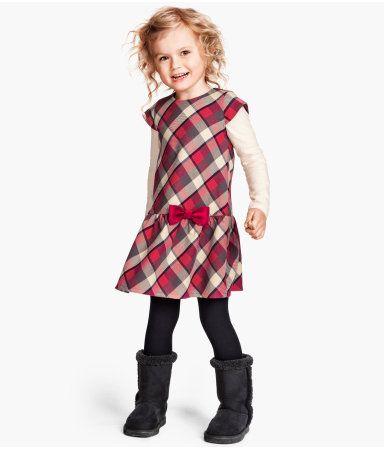 Ruffled drop waist dress, cute with chunky boots