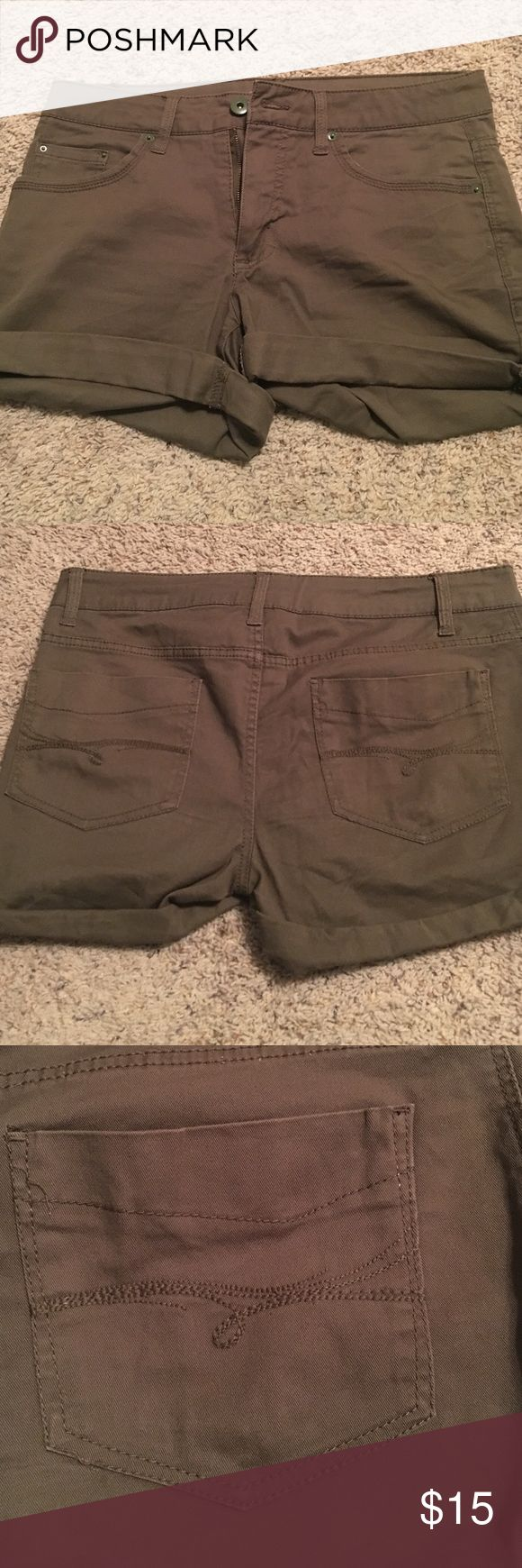 Olive green shorts. Olive green. Never worn. Faded Glory Shorts