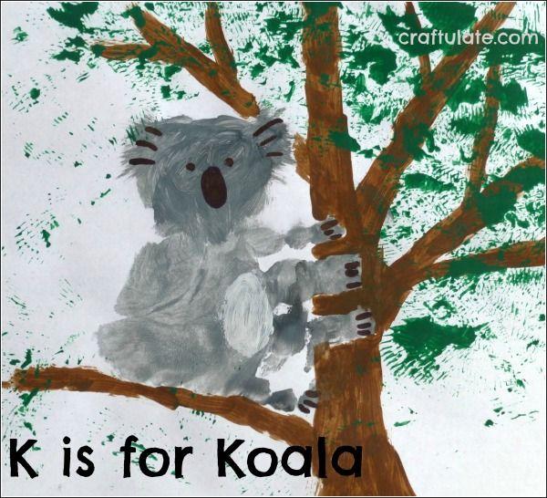 ABC Animal Handprints K is for Koala
