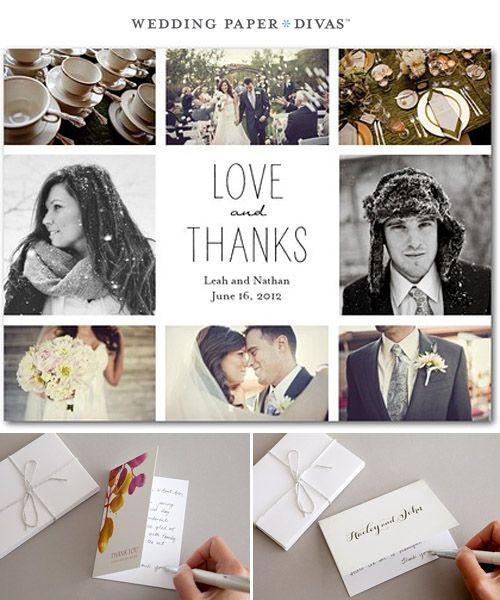 17 Best images about prewedding engagement – Wedding Paper Divas Thank You Cards